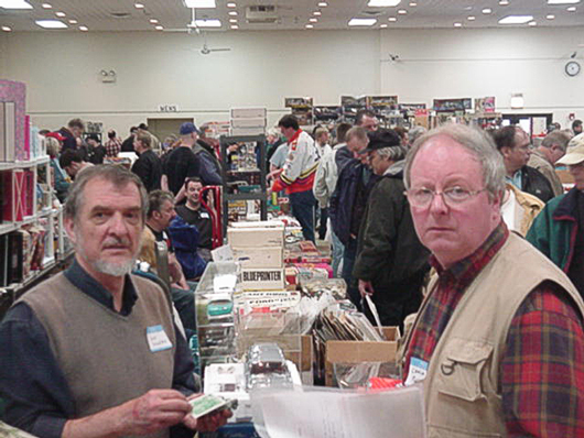 Illinois Toy Show with miniature model cars and Racing Photographs