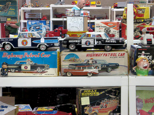 Old Highway Patrol Car Toys